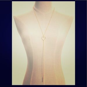 Open Heart Long Y Necklace / NEW!! (O/S)